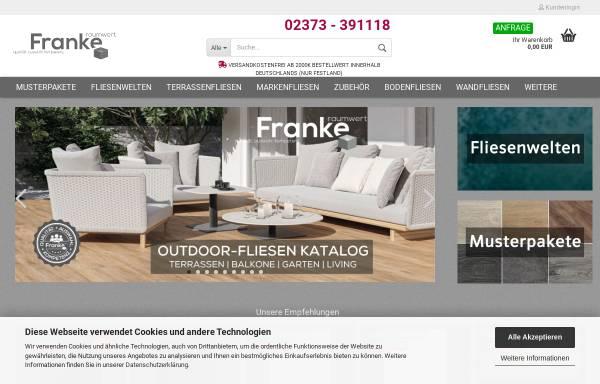 Vorschau von www.franke-raumwert.de, Franke Raumwert