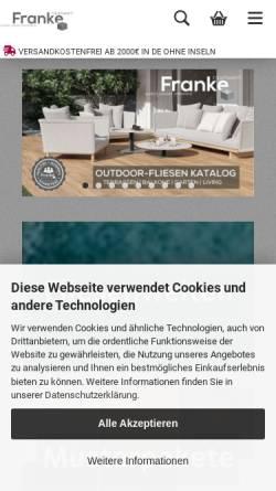 Vorschau der mobilen Webseite www.franke-raumwert.de, Franke Raumwert