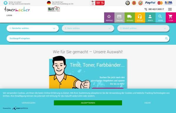 Vorschau von www.tonermacher.de, Tonermacher