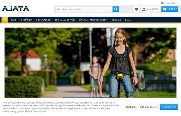Vorschau von einradversand.com, Ajata Einradversand