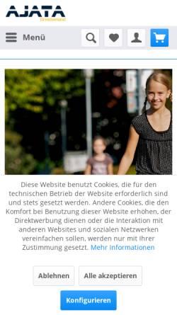 Vorschau der mobilen Webseite einradversand.com, Ajata Einradversand