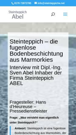 Vorschau der mobilen Webseite steinteppiche.net, Steinteppich Abel