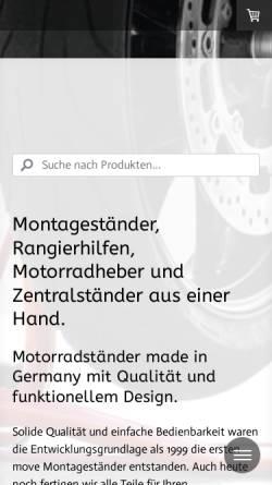 Vorschau der mobilen Webseite www.move-montagestaender.de, Move Montageständer