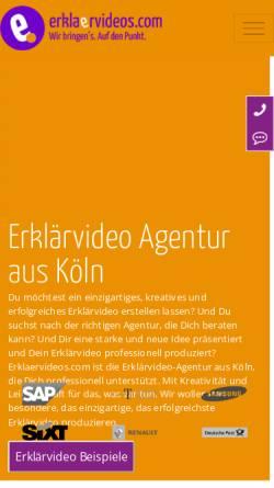 Vorschau der mobilen Webseite www.erklaervideos.com, Erklärvideo GmbH