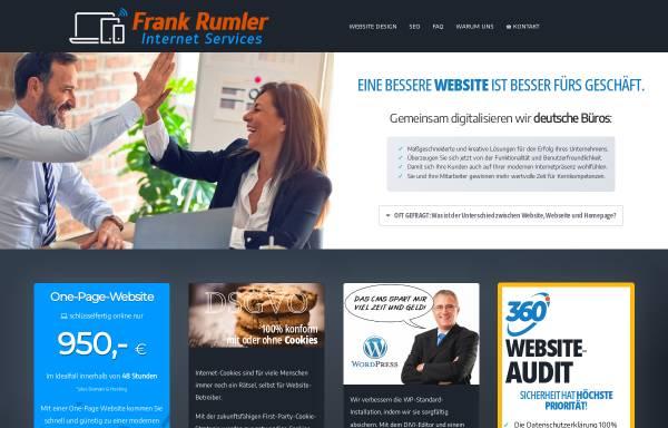 Vorschau von rumler.com, Frank Rumler