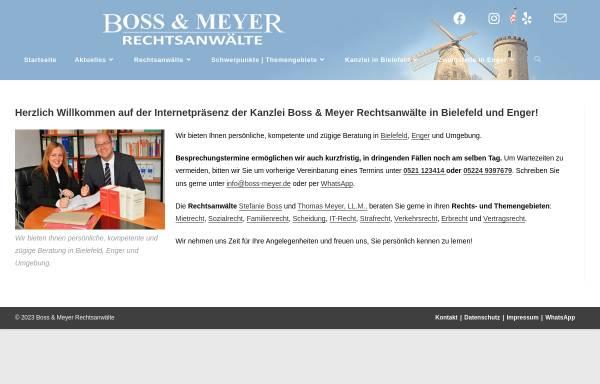 Vorschau von boss-meyer.de, Boss & Meyer Rechtsanwälte