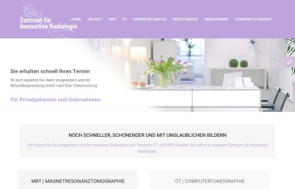 Vorschau von www.innovative-radiologie.de, Zentrum für Innovative Radiologie in Nürnberg