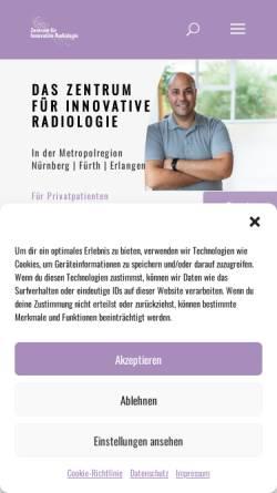 Vorschau der mobilen Webseite www.innovative-radiologie.de, Zentrum für Innovative Radiologie in Nürnberg