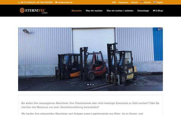 Vorschau von www.eternitec.de, Eternitec GmbH