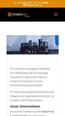 Vorschau der mobilen Webseite www.eternitec.de, Eternitec GmbH