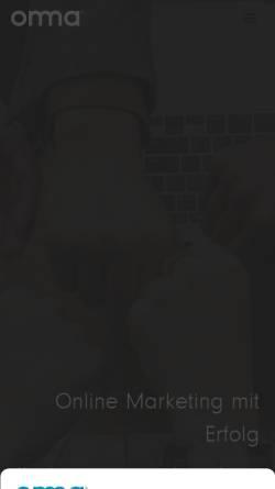 Vorschau der mobilen Webseite onma.de, ONMA Online Marketing GmbH