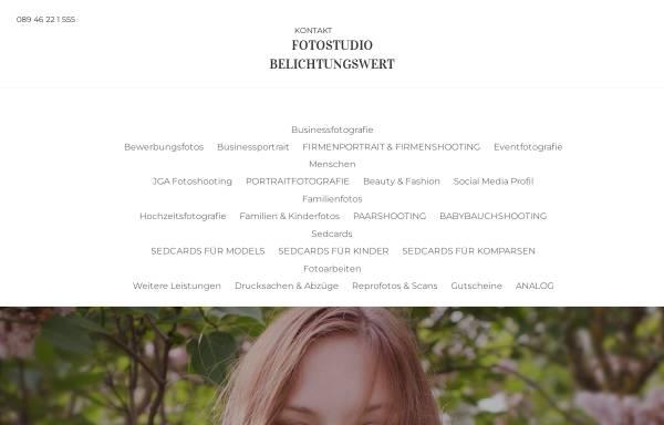 Vorschau von www.belichtungswert.de, Fotostudio Belichtungswert