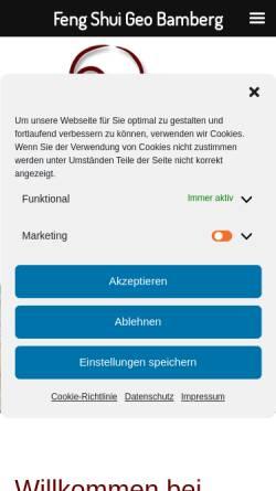 Vorschau der mobilen Webseite www.fengshui-geo.de, Hiltrud J. Pornschlegel
