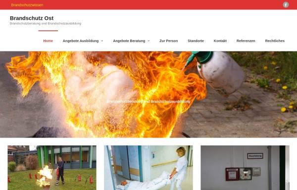 Vorschau von www.brandschutz-ost.de, Brandschutz Ost