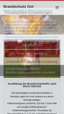 Vorschau der mobilen Webseite www.brandschutz-ost.de, Brandschutz Ost