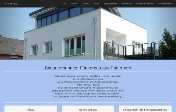 Vorschau von foersterbau.com, Förster Bau