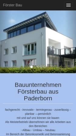 Vorschau der mobilen Webseite foersterbau.com, Förster Bau