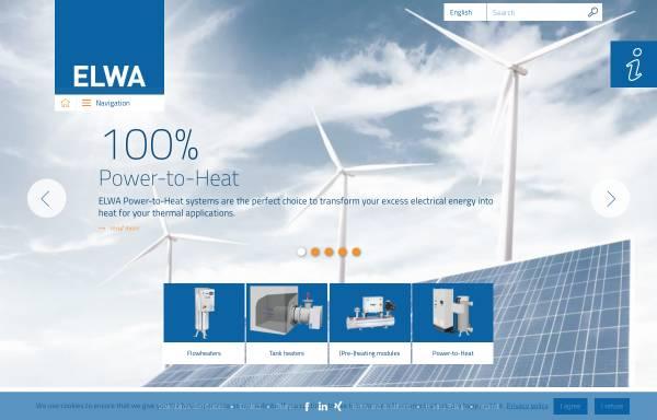 Vorschau von www.elwa.com, ELWA › systems for energy