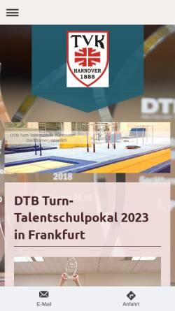Vorschau der mobilen Webseite www.NTB-Turnschule.de, NTB-Turnschule Hannover des Turnvereins Kleefeld von 1888 e.V.