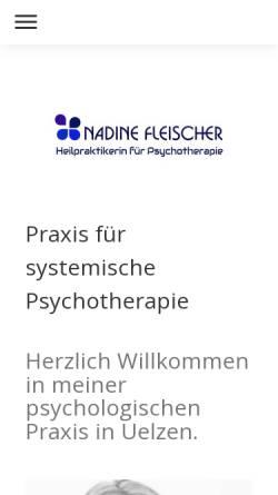 Vorschau der mobilen Webseite www.therapie-uelzen.de, Nadine Fleischer - Praxis für systemische Psychotherapie