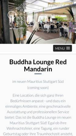 Vorschau der mobilen Webseite buddhaloungeredmandarin.de, Buddha Lounge Red Mandarin