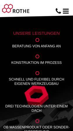 Vorschau der mobilen Webseite www.rothe.de, Erich Rothe GmbH & Co. KG