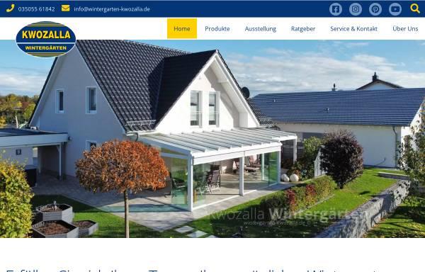 Vorschau von www.wintergarten-kwozalla.de, KWOZALLA Wintergärten
