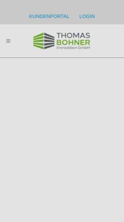 Vorschau der mobilen Webseite thomasbohner.de, THOMAS BOHNERImmobilien
