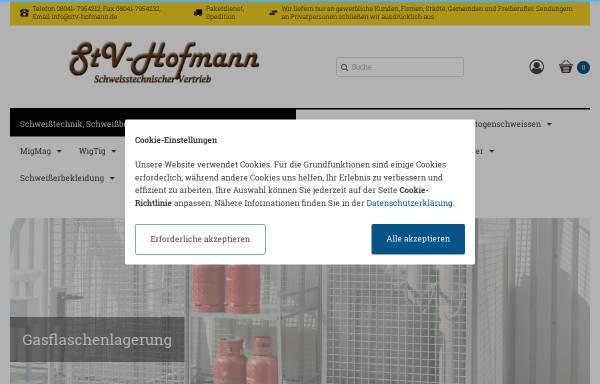 Vorschau von www.stv-hofmann.de, Schweißtechnischer Vertrieb StV Hofmann