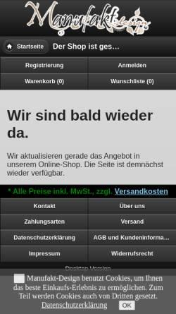 Vorschau der mobilen Webseite manufakt-design.de, Manufakt-Design