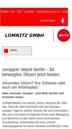 Vorschau der mobilen Webseite www.swopper-test.de, Lomnitz GmbH