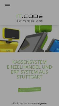 Vorschau der mobilen Webseite www.itcode-software.de, IT.CODE GmbH Software Solution