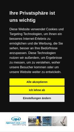 Vorschau der mobilen Webseite www.mueller-gebaeudereinigung.de, Rainer Müller Gebäudereinigung