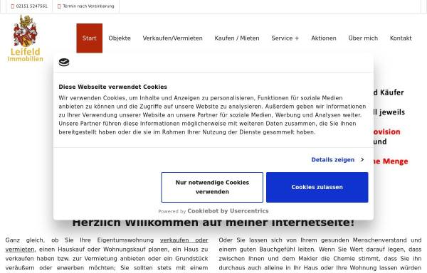 Vorschau von www.leifeld-immobilien.de, Leifeld Immobilien