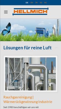 Vorschau der mobilen Webseite www.hellmich.com, Hellmich GmbH & Co. KG