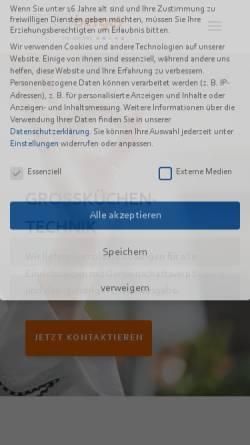 Vorschau der mobilen Webseite grosskuechencenter.de, Berger GmbH