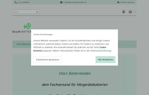 Vorschau von ullas-batterieladen.de, Ullas Batterieladen