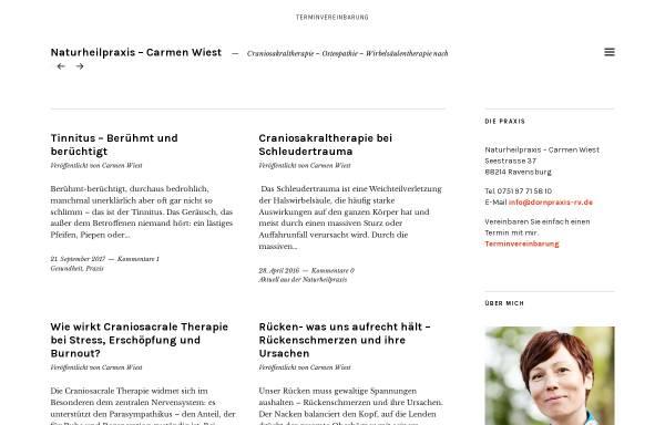 Vorschau von www.dornpraxis-rv.de, Naturheilpraxis Carmen Wiest