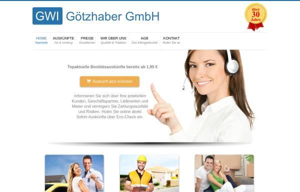 Vorschau von www.gwi-goetzhaber.de, GWI Götzhaber Wirtschaftsauskünfte GmbH