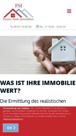 Vorschau der mobilen Webseite www.fs-immobilien.eu, FSI - Florian Stark Immobilien