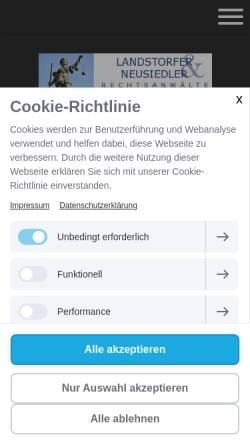 Vorschau der mobilen Webseite www.rechtsanwalt-muenchen.info, Rechtsanwälte Landstorfer & Neusiedler