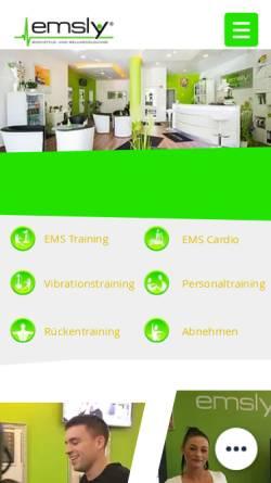 Vorschau der mobilen Webseite www.emsly.de, Emsly EMS Studio