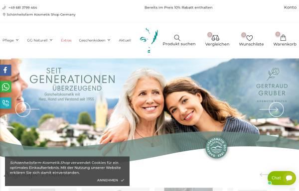 Vorschau von schoenheitsfarm-kosmetik.shop, Gertraud Gruber Kosmetik für Sie & Ihn
