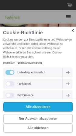 Vorschau der mobilen Webseite www.freshnails-stuttgart.de, freshnails Nagelstudio