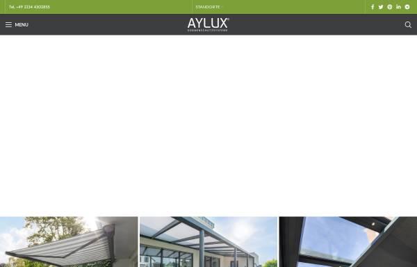 Vorschau von www.aylux.de, Aylux Sonnenschutzsysteme GmbH