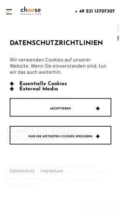 Vorschau der mobilen Webseite www.cheese-production.de, CHEESE Productions®