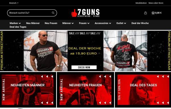 Vorschau von www.7guns.de, 7Guns: Streetwear & Fashion Store