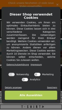 Vorschau der mobilen Webseite www.7guns.de, 7Guns: Streetwear & Fashion Store