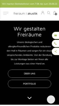 Vorschau der mobilen Webseite www.freiraumakustik.de, freiraum Akustik