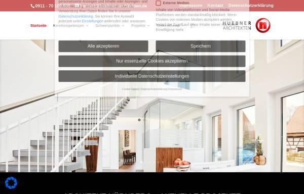 Vorschau von www.huebner-architekten.de, Hübner Architekten